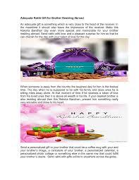 adequate rakhi gift for brother residing abroad n