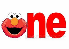 Iron On Transfer Sticker Elmo 1st Birthday Sesame Street Cake Smash