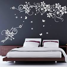 flower and erfly vine wall stickers