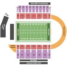 Dobyns Bennett Football Stadium Seating Chart Kidd Brewer Stadium Tickets And Kidd Brewer Stadium Seating