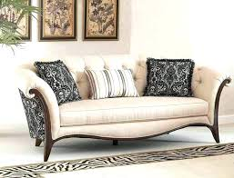 sofa with wood trim furniture design set wooden new fabric chaise broyhill sofa with wood trim