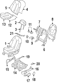 parts com® mini seats and tracks front seat components side 2002 mini cooper base l4 1 6 liter gas front seat components