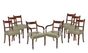 a lovely set of eight gany regency dining chairs