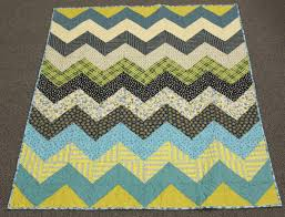 Chevron Lap Baby Toddler quilt in Chicopee -- blue, green, aqua ... & Chevron Lap Baby Toddler quilt in Chicopee -- blue, green, aqua, cream Adamdwight.com