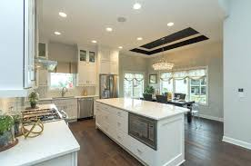 living amusing clarissa rectangular chandelier 24 transitional kitchen with crystal drop simple marble counters flush flat