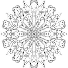 Crystal Morning Free Printable Mandala Coloring