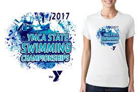 Swim Championship T Shirt Designs Swimming Logo For Ymca Swimming State Championships T Shirt