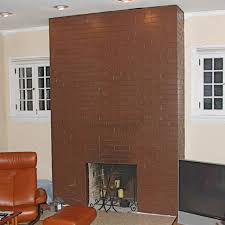 old previously painted brick fireplace