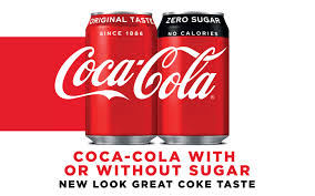 coca cola with or without sugar new look great e taste