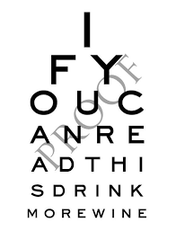 Wine With Eye Chart Label Eye Chart Humorous Custom Wine Or Spirits Label If You Can
