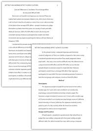 example apa research paper writing a research report in american psychological association apa