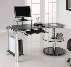glass home office desks. Neat Ikea Glass Desksinterior Black Desk With Home Office Decoration Design Then Drawers Desks E
