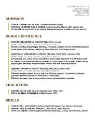 Successful Resume Templates Simple Resume Templates 75 Examples Free Download