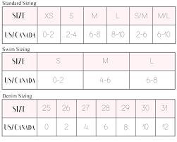 Buddylove Size Chart Buddylove Clothing Label