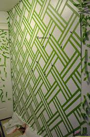 Painting a geometric wall on hertoolbelt.com Taping it Modern