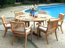 72 inch round outdoor dining table whole teak 7 piece teak dining set with round table