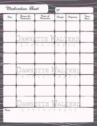Caregiver Chart Printable Medication Chart Download Family By Minimadhatter