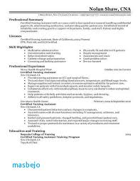 Certified Nursing Assistant Resume Examples Gorgeous Cna Resumes Examples Cna Resume Example Certified Nursing Assistant