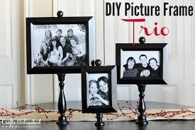 pedestal diy picture frame trio