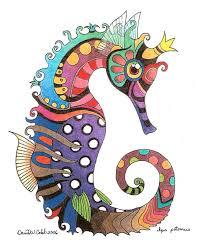 603x700 seahorse by david cobb