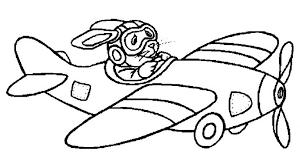 Kleurplaat Vliegtuig Kleurplaatjenl