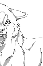 Snarling Wolf Lineart My Pack Is