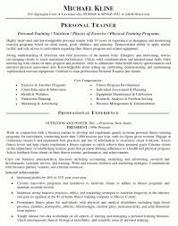 examples of resumes for jobs as personal trainer resume template training resume samples