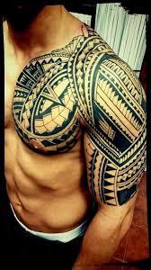 Tetování Ornamenty Prsa Ruka Tetování Tattoo