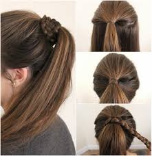Easy Hair Style For Girl Pony Hairstyles For Medium Length Hair 2018 Pony Hairstyles 3859 by wearticles.com