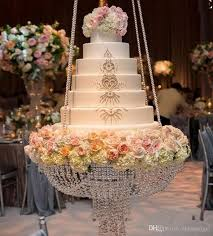 dia 60cm round crystal chandelier cake stand hanging with crystal beaded cake table for wedding decoration decoration of party decoration party from