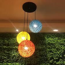 coffee decoration lighting creative hemp ball lobby ball lamp head mouth moon