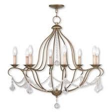 bayfront 8 light candle style chandelier color antique gold leaf by wayfair