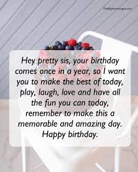 Short And Long Birthday Messages Wishes Quotes For Sister The