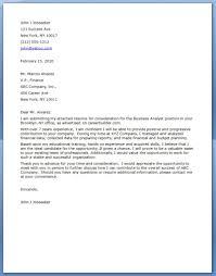 Developer Business Analyst Resume Business Analyst Cover Letter