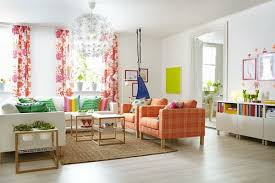 ikea sitting room furniture. Exellent Sitting Living Room With Spring Colors Beautiful Curtains The Brown Sofa And  Rainbow Pillows In Ikea Sitting Furniture