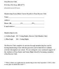 Oran Eagles Athletics Booster Club Info