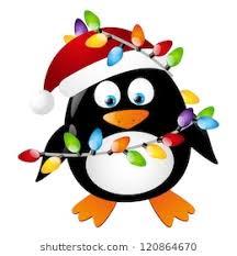 animated christmas penguins. Exellent Penguins Penguin With Christmas Light Bulbs And Animated Penguins N