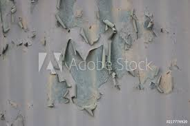 photo art print close up shot a corrugated metal wall with ling paint europosters
