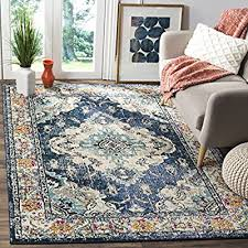 wanna purchase best area rugs safavieh monaco collection mnc243n vintage bohemian navy and light blue distressed