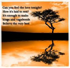 Lion King Love Quotes Stunning Can You Feel The Love Tonight Elton John Love Song Lyrics Music