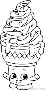 Small Picture Ice cream Dream Shopkins Coloring Page Free Shopkins Coloring