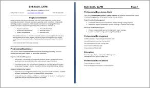 Alluring 2 Page Resumes Download Examples Of Com Resume Job
