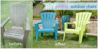 how to paint plastic outdoor chairs