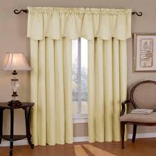 Window Valance Living Room Eclipse Canova Blackout Ivory Polyester Curtain Valance 21 In