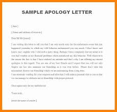 format for apology letter sorry letter