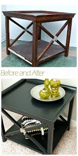 painted table w edge banding before after