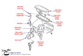 outer door handle diagram for a c3 corvette