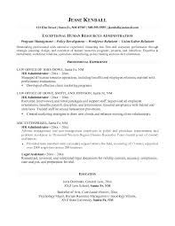 Resume Human Resources Administration Cover Letter Best