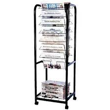 Newspaper Display Stands Inspiration Black Wall Mount Steel File Holder Organizer Rack Sectional Modular