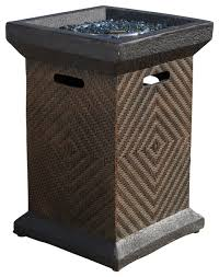 gdf studio centinela outdoor 19 liquid propane fire column tropical fire pits by gdfstudio